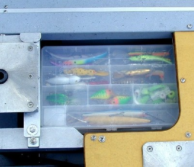 Filled Tackle Tray Compartment