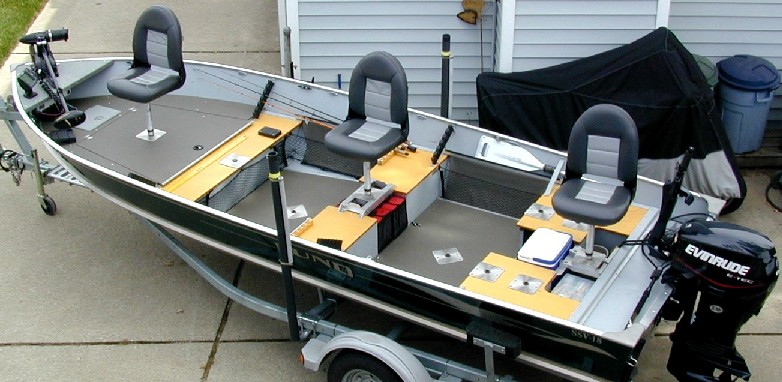 Boat Conversion -- Lund SSV-18 to Dream Walleye Boat